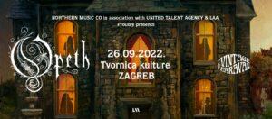 Opeth; Zagreb; 26.9.2022.
